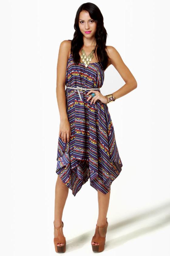 Volcom Peer Pressure Blue Print Dress