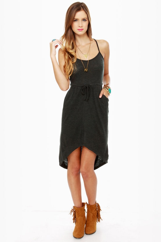 Volcom Autumn Spice Charcoal Grey Dress at Lulus.com!