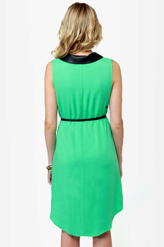 Volcom Over Our Heads Green Dress at Lulus.com!