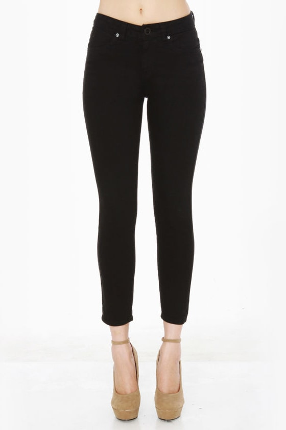 Volcom What the Twill Black Skinny Jeans at Lulus.com!