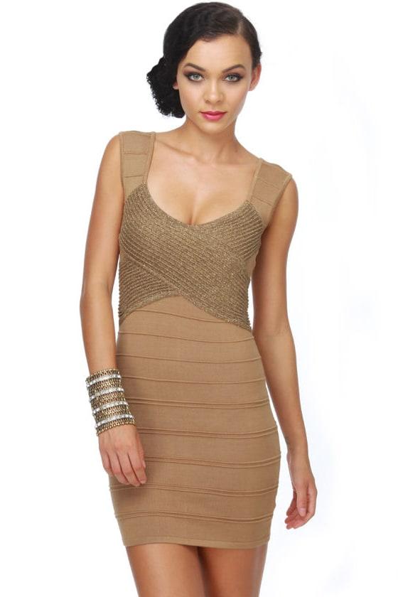 Disc-Au Glitter Gold Dress