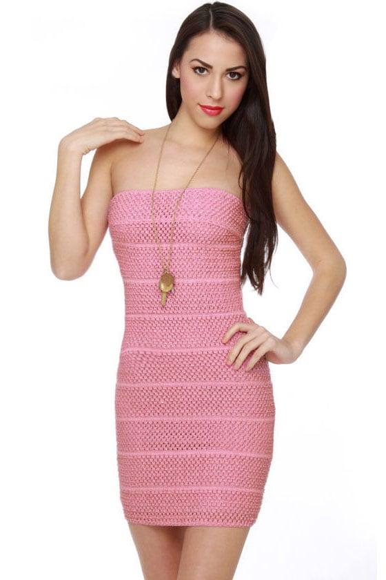 Pink Friday Strapless Pink Dress