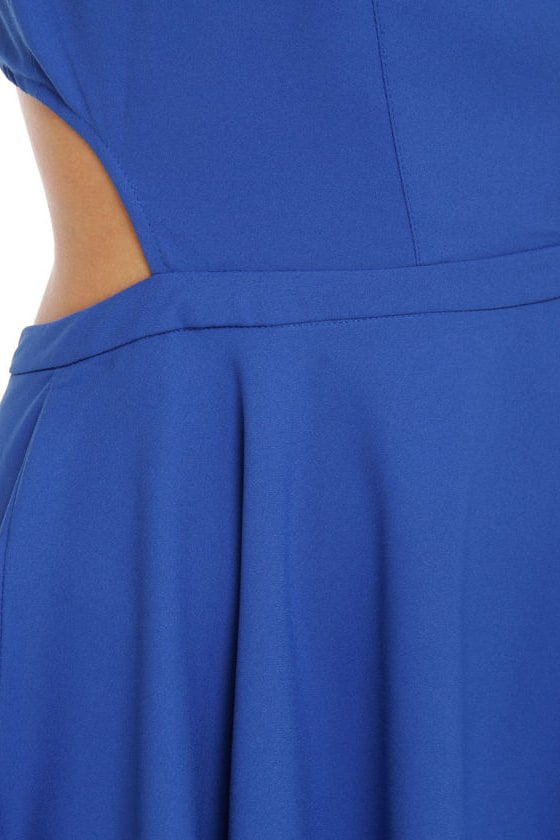 Take Me Back Cutout Blue Dress
