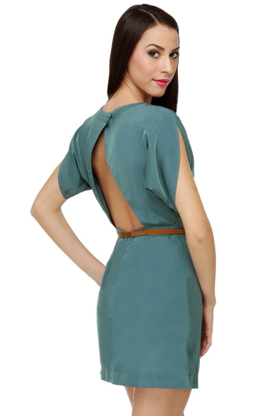 World by Storm Teal Dress