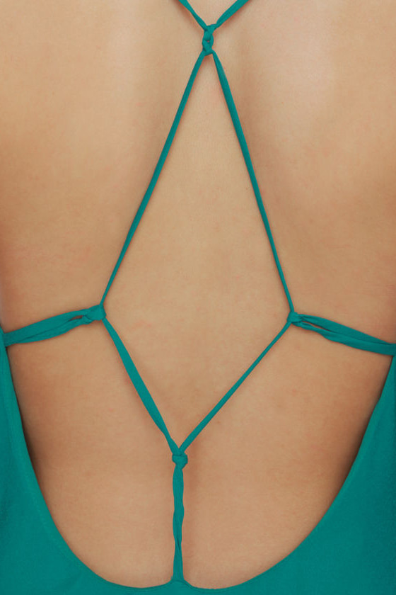 Web of Dreams Teal Dress