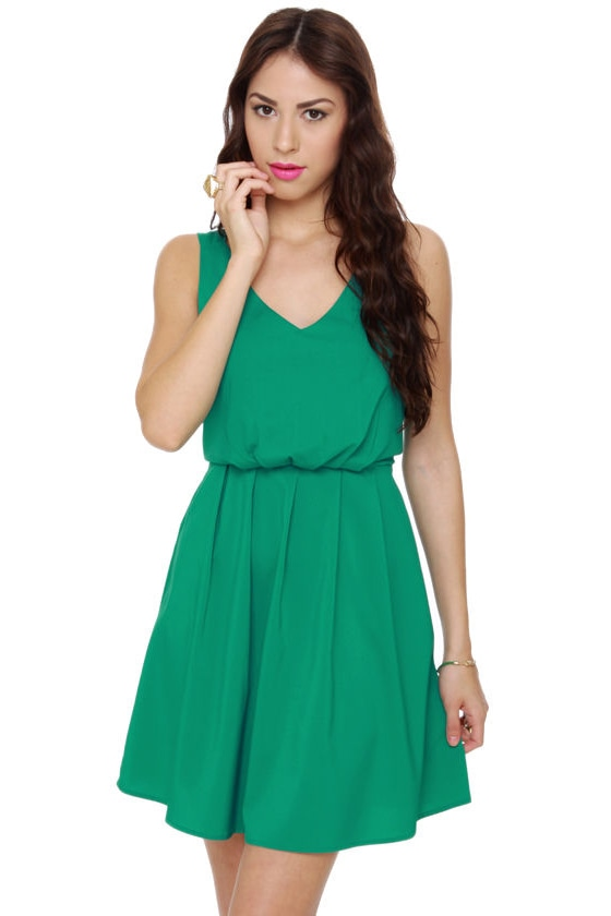 Monsoon Season Teal Dress at Lulus.com!