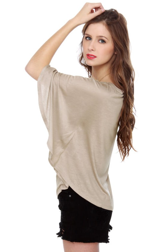 Propose a Toast Taupe Top at Lulus.com!