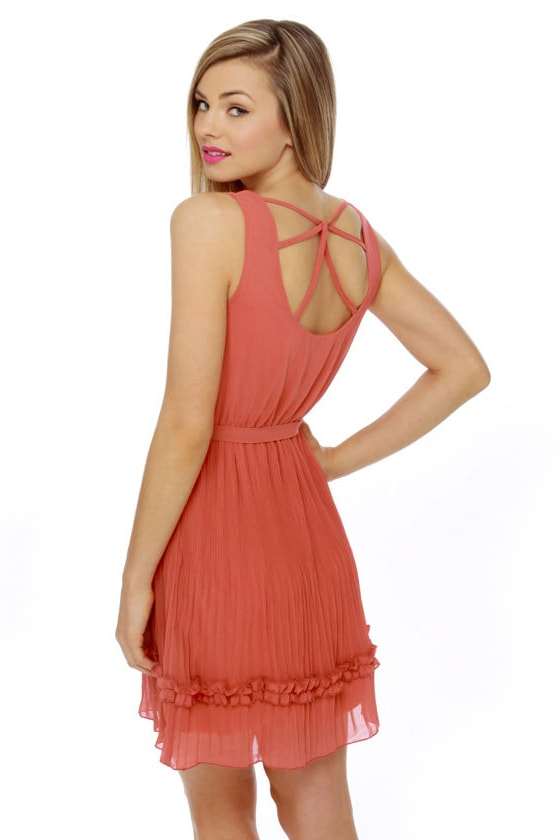 Burnt Orange Dress - Sheath Dress - Sleeveless Dress - $59.00 |Burnt Orange Gowns