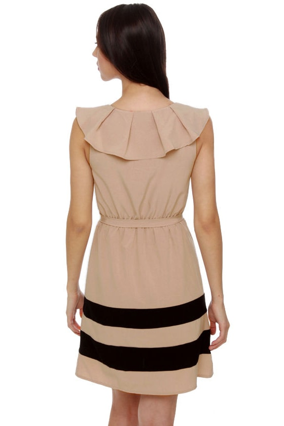 Smooth Sailing Taupe Dress