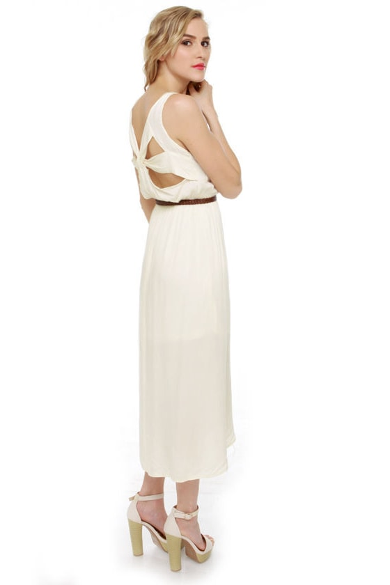 Walkabout Ivory Midi Dress at Lulus.com!