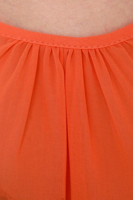 Hot Ticket Sheer Orange Top