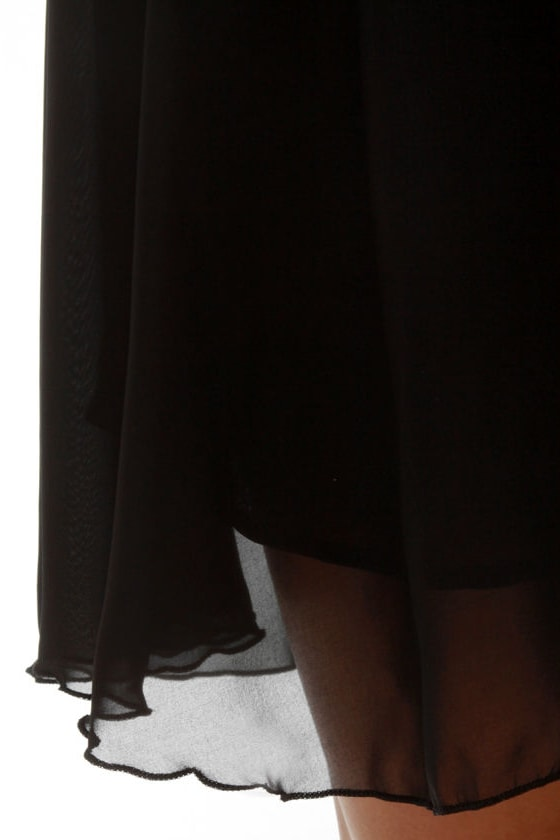 Nightin-gala Black Silk Dress at Lulus.com!