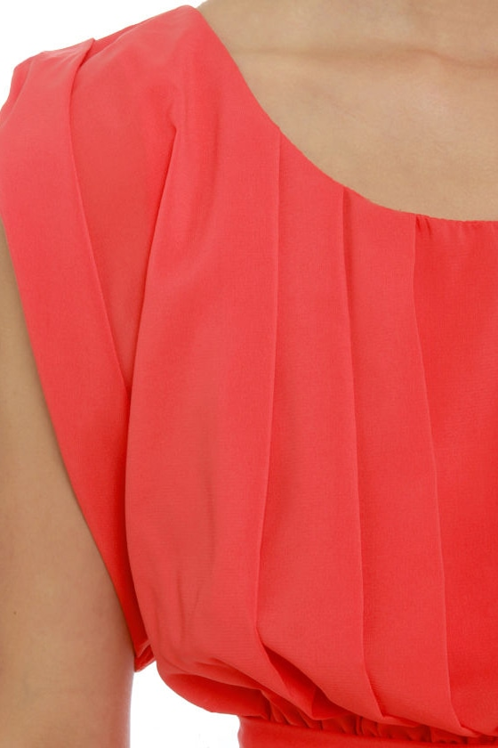 Plus One Coral Red Dress at Lulus.com!