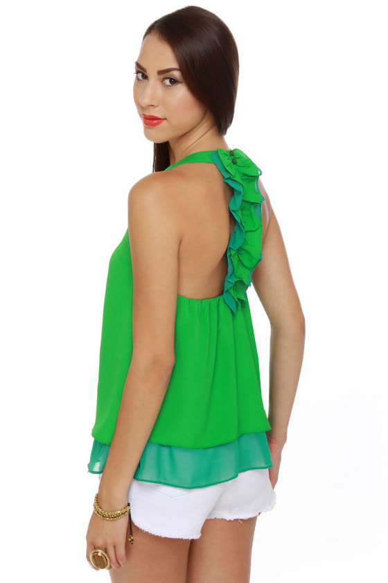 Tea Ceremony Green Tank Top at Lulus.com!