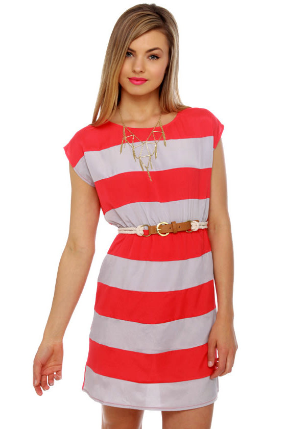 Shipwrecked Red Striped Dress
