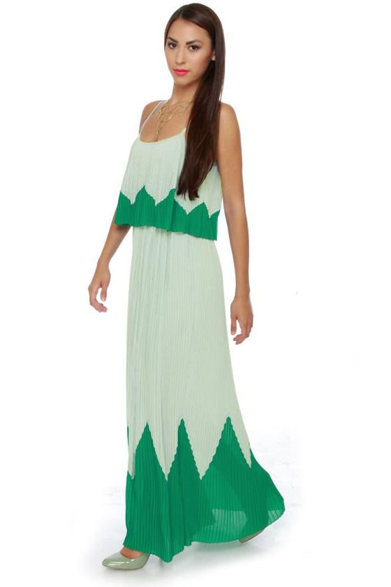 Peak Your Interest Mint Green Maxi Dress