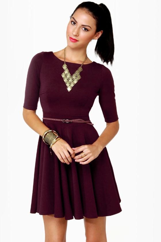 Black Sheep Olivia Burgundy Knit Dress