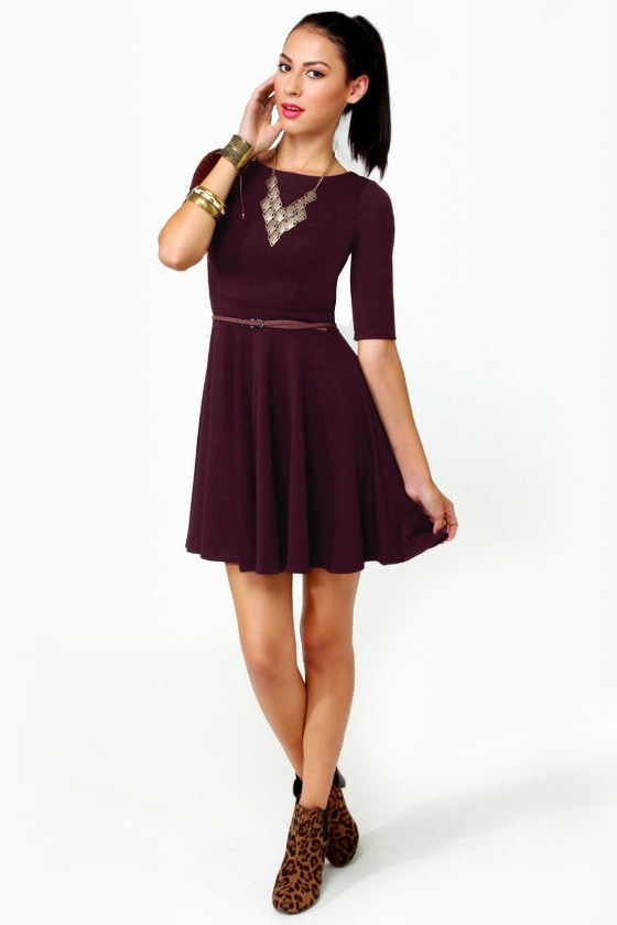 Black Sheep Olivia Burgundy Knit Dress