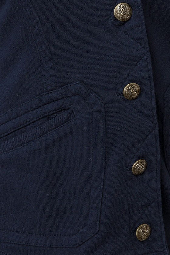 Lost Ringo Navy Blue Hooded Jacket