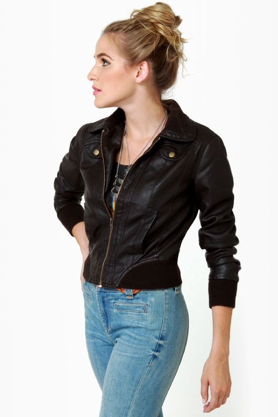 Lost Finn Dark Brown Bomber Jacket at Lulus.com!