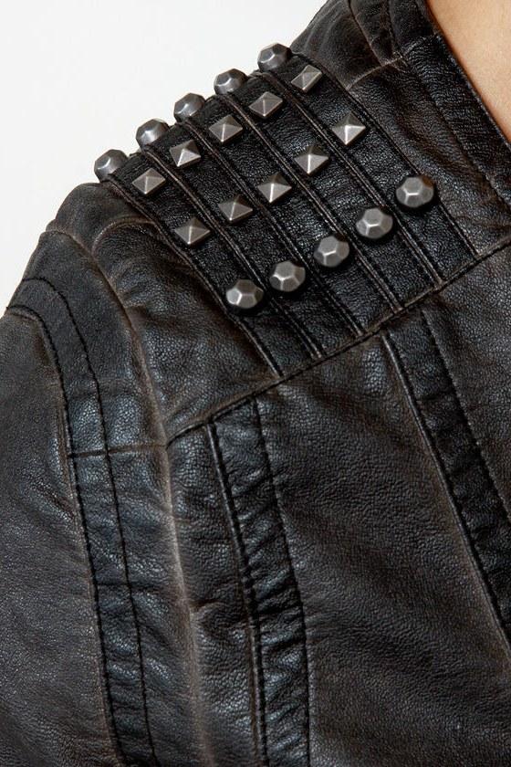 Black Sheep Spirit Dark Brown Moto Jacket