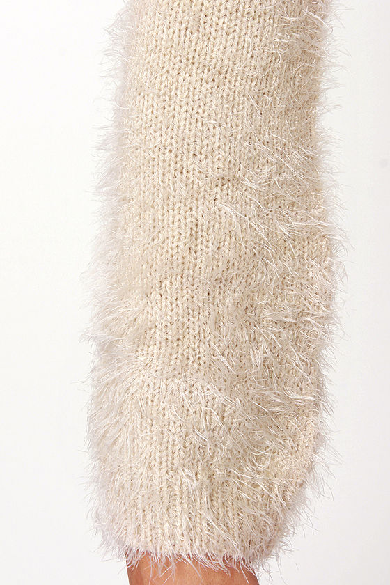 Fuzzy Feelings Taupe Sweater at Lulus.com!
