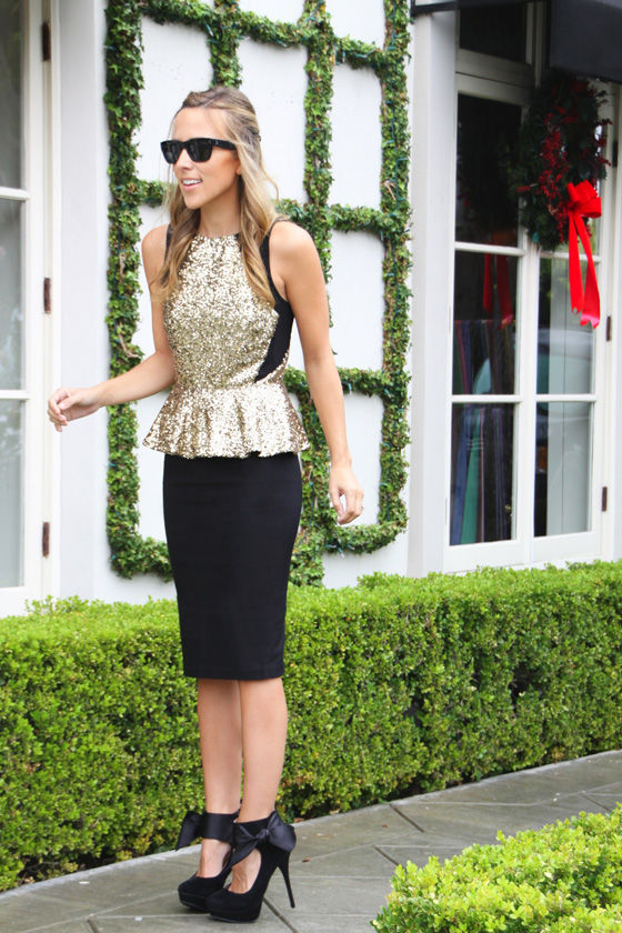 Glitterati Gold Sequin Top at Lulus.com!