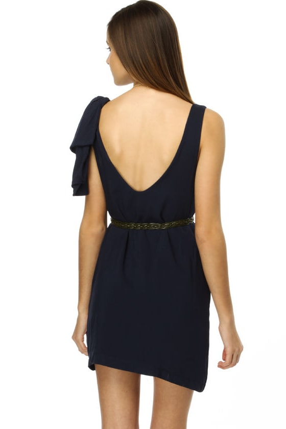 Queen of Anything Navy Blue Dress