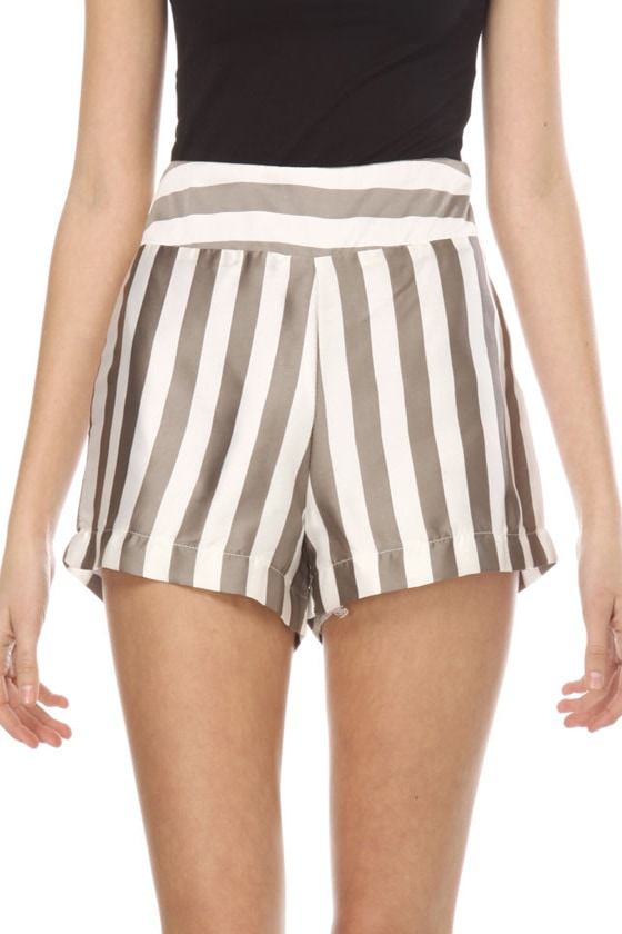 Night at the Ivy Striped Shorts
