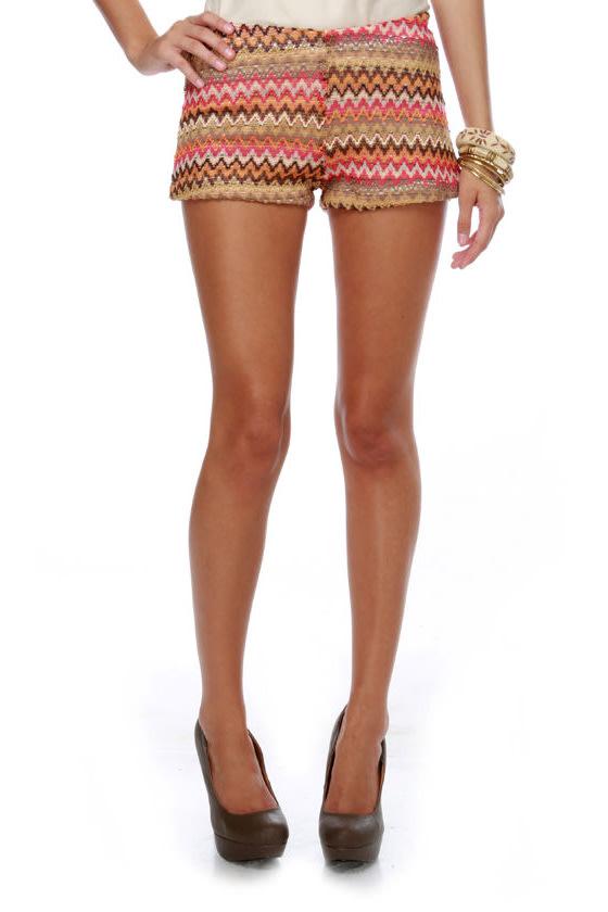 Equator Brown and Pink Shorts