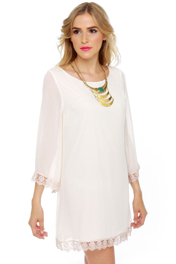 Angel Food Cake Ivory Dress at Lulus.com!