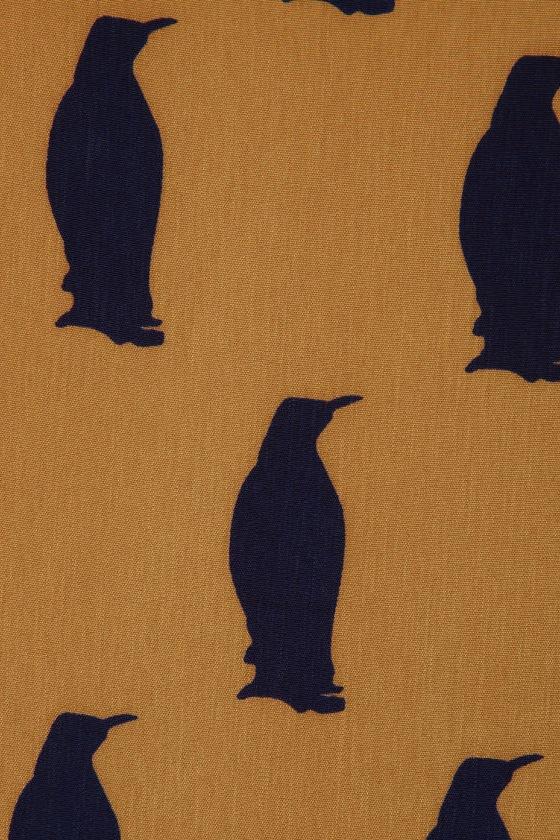 Penguin Pals Brown Shift Dress