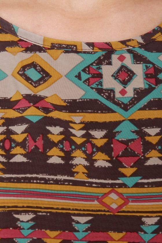Sedona Canyons Southwest Print Dress