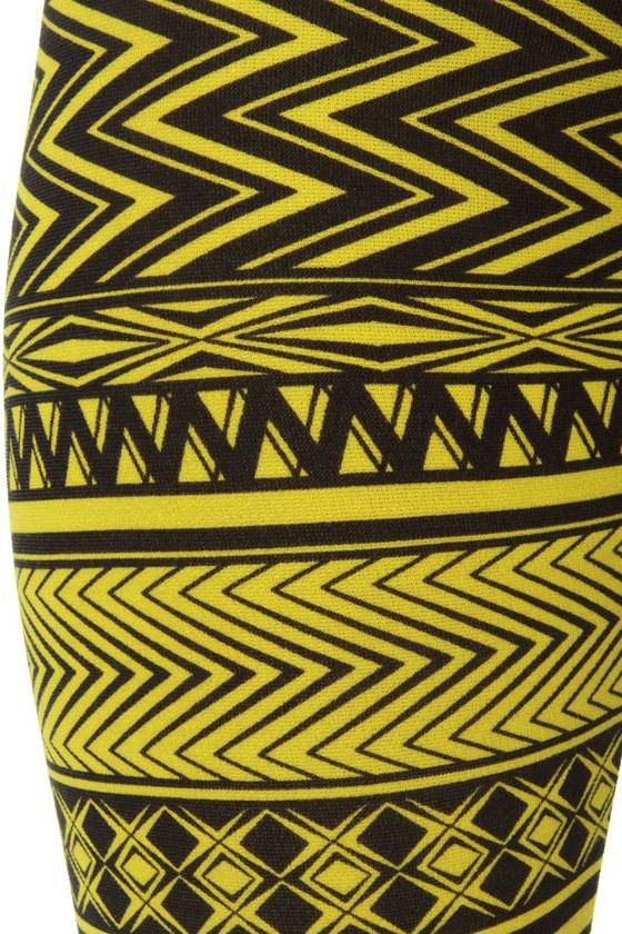Your Tribe Has Spoken Yellow Print Leggings