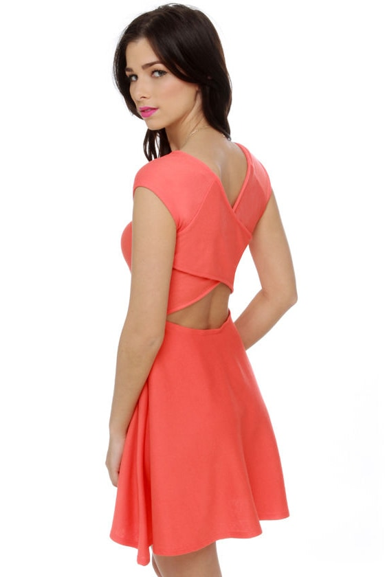 Scoop du Jour Coral Dress