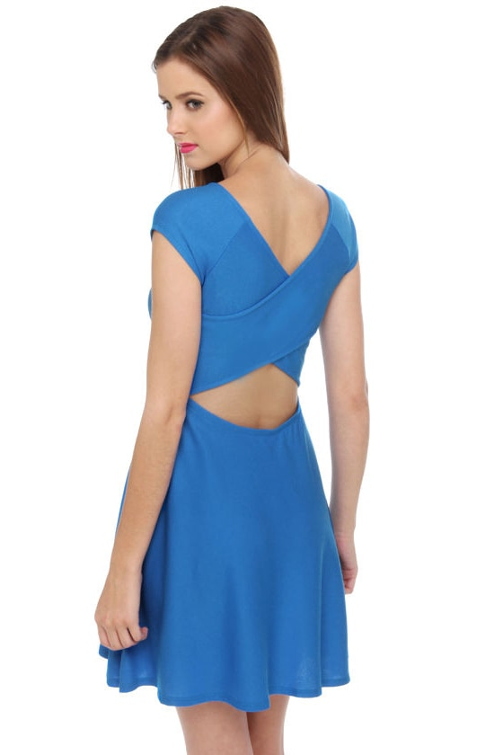 Scoop du Jour Blue Dress