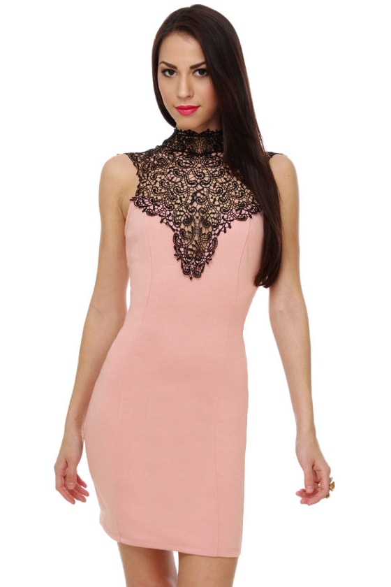 Secret Chord Lace Blush Pink Dress