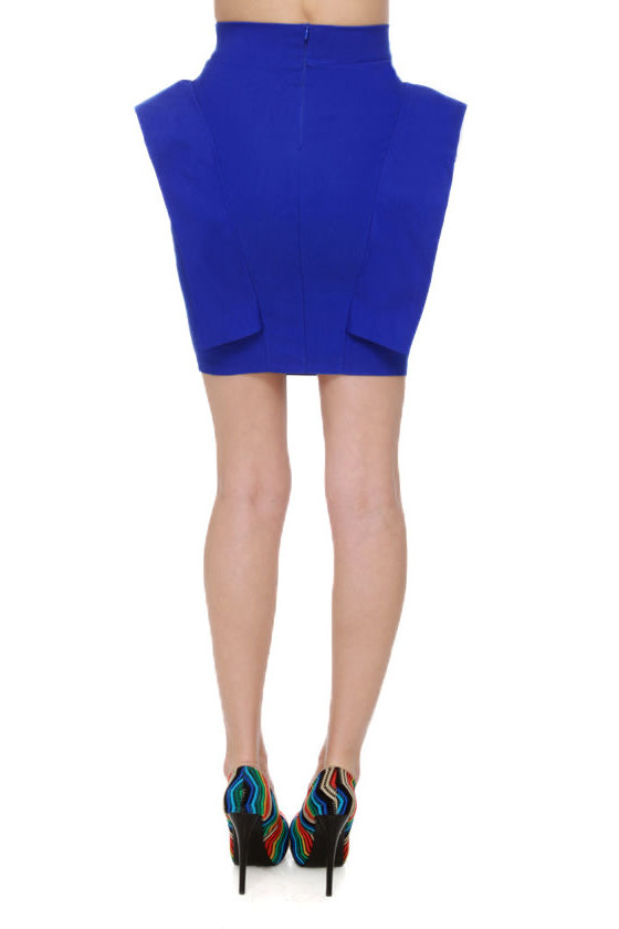 Pep Talk Royal Blue Skirt at Lulus.com!