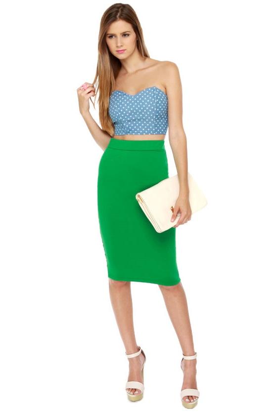 Sage Green Pencil Dress