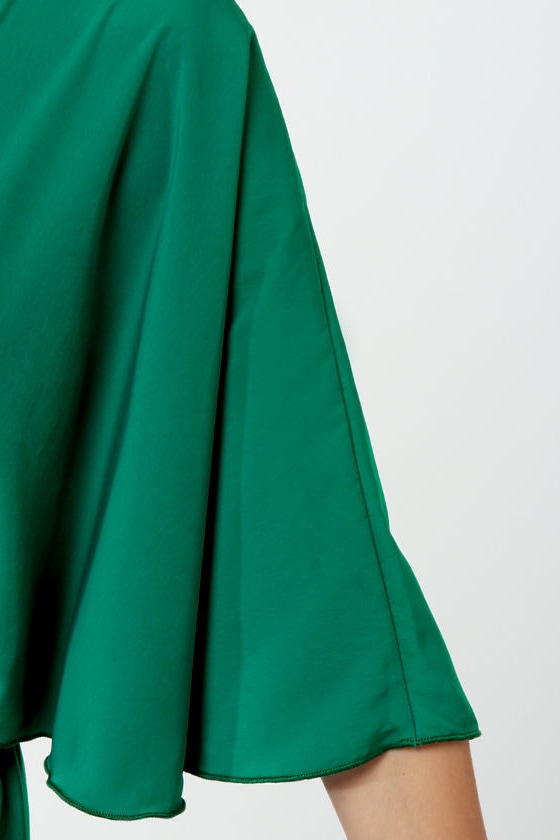 Plantation Tour Green One Shoulder Dress at Lulus.com!