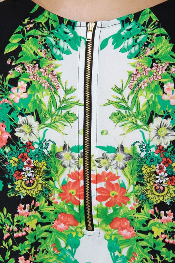 Botany Books Black Floral Print Dress