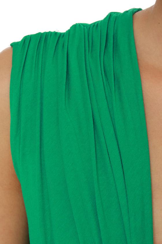 Twisting the Night Away Green Dress