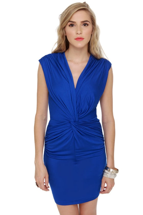 Twisting the Night Away Blue Dress