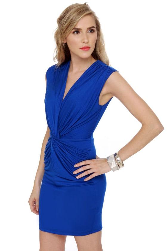 Twisting the Night Away Blue Dress