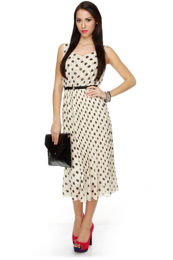 Tea at Three Polka Dot Dress
