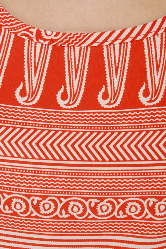 Firestarter Orange Print Maxi Dress at Lulus.com!
