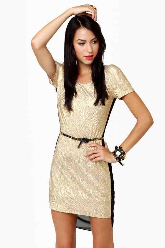 Hot Prospect-or Black and Gold Dress