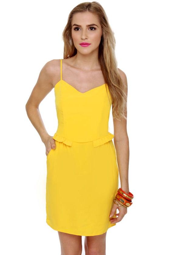 Custard Danish Yellow Dress