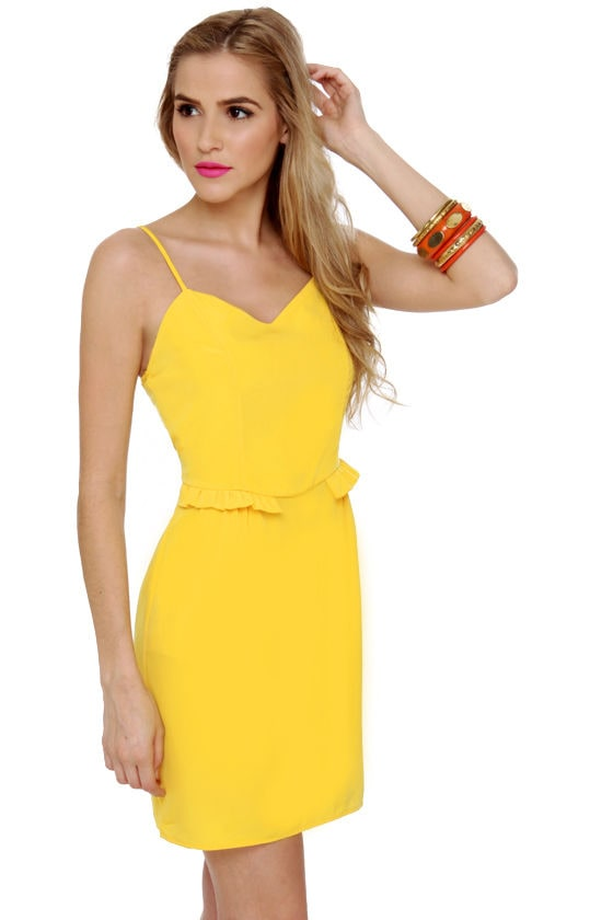 Custard Danish Yellow Dress at Lulus.com!