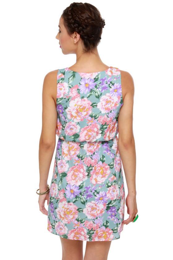 Chrysanthemum's the Word Floral Print Dress